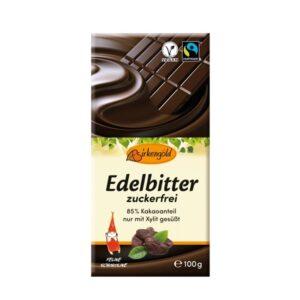 Xylit Edelbitter Schokolade (100g)