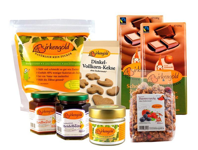 Birkenzucker Produkte von Birkengold